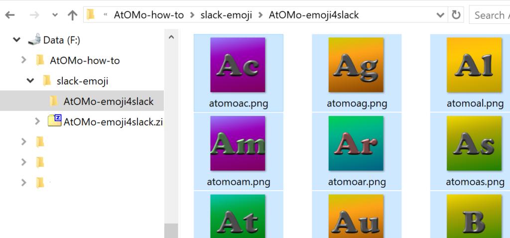 AtOMO how 2 emoji 4 slack - 3c